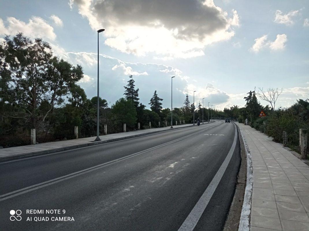 Οδικός φωτισμός περιφερειακού δρόμου πολυτεχνείου